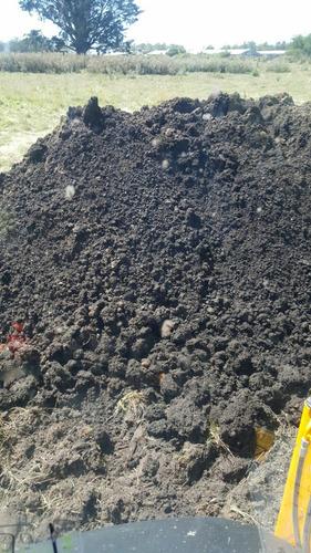 retroexcavadora camión relleno tierra negra balastro arena