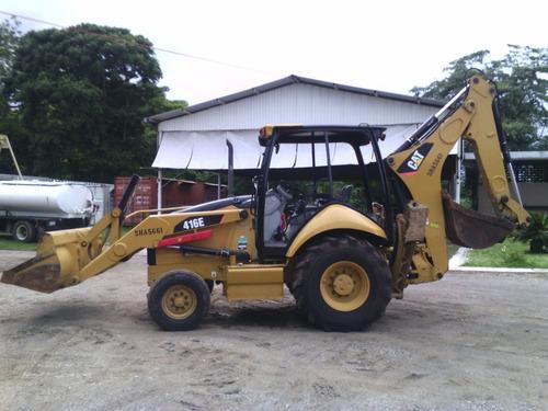 retroexcavadora cat 416e 4x2 año 2009