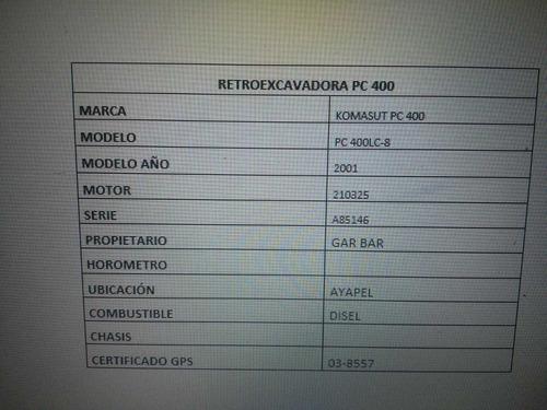 retroexcavadora komasut pc400 lc-8