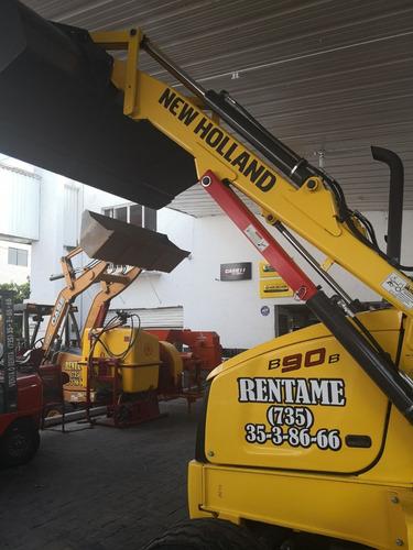 retroexcavadora new holland b90b 2wd 2017 renta o venta