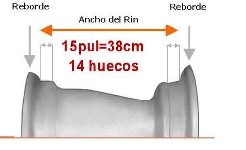 retroexcavadoras rines fotos con medidas rin