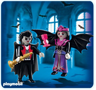 retromex playmobil 5239 blister pareja d vampiros medieval