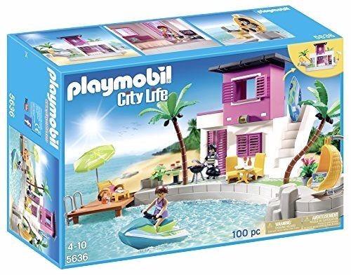 Retromex playmobil 5636 casa en la playa ciudad vacaciones 1 en mercado libre - Playmobil 3230 casa de vacaciones ...