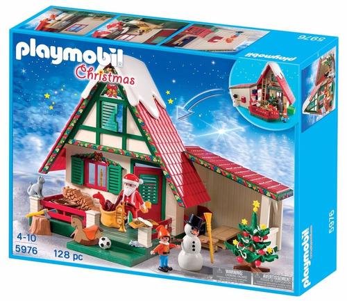 retromex playmobil 5976 taller casa d santa claus navidad