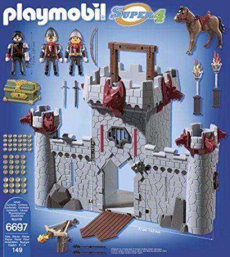 retromex playmobil 6697 castillo baron negro medieval super