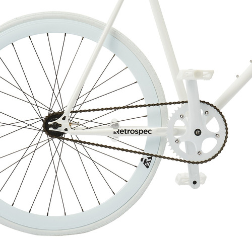 retrospec bicycles mantra fixie bicicleta con bujes y far