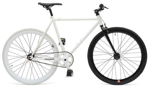 retrospec mantra fixie bicicleta vintage retro blanca xl