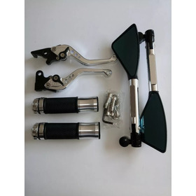 Retrovisor Cb300/twister Rizoma Kit C/manopla Manete Cromado