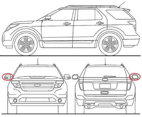 retrovisor derecho ford explorer xlt 2011 - 2015 original