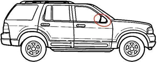 retrovisor derecho ford explorer xlt sport trac original