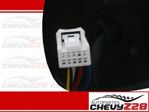 retrovisor electrico cromado derecho con luz cruce hilux