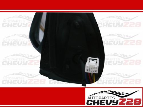 retrovisor electrico cromado izquierdo con luz cruce hilux