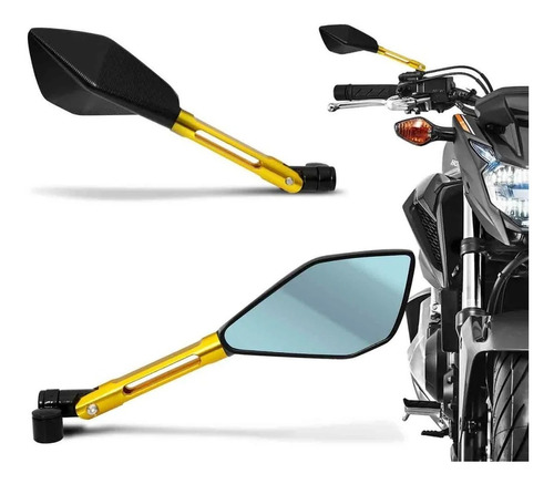 retrovisor esportivo aluminio rizoma ninja 300 r 300r