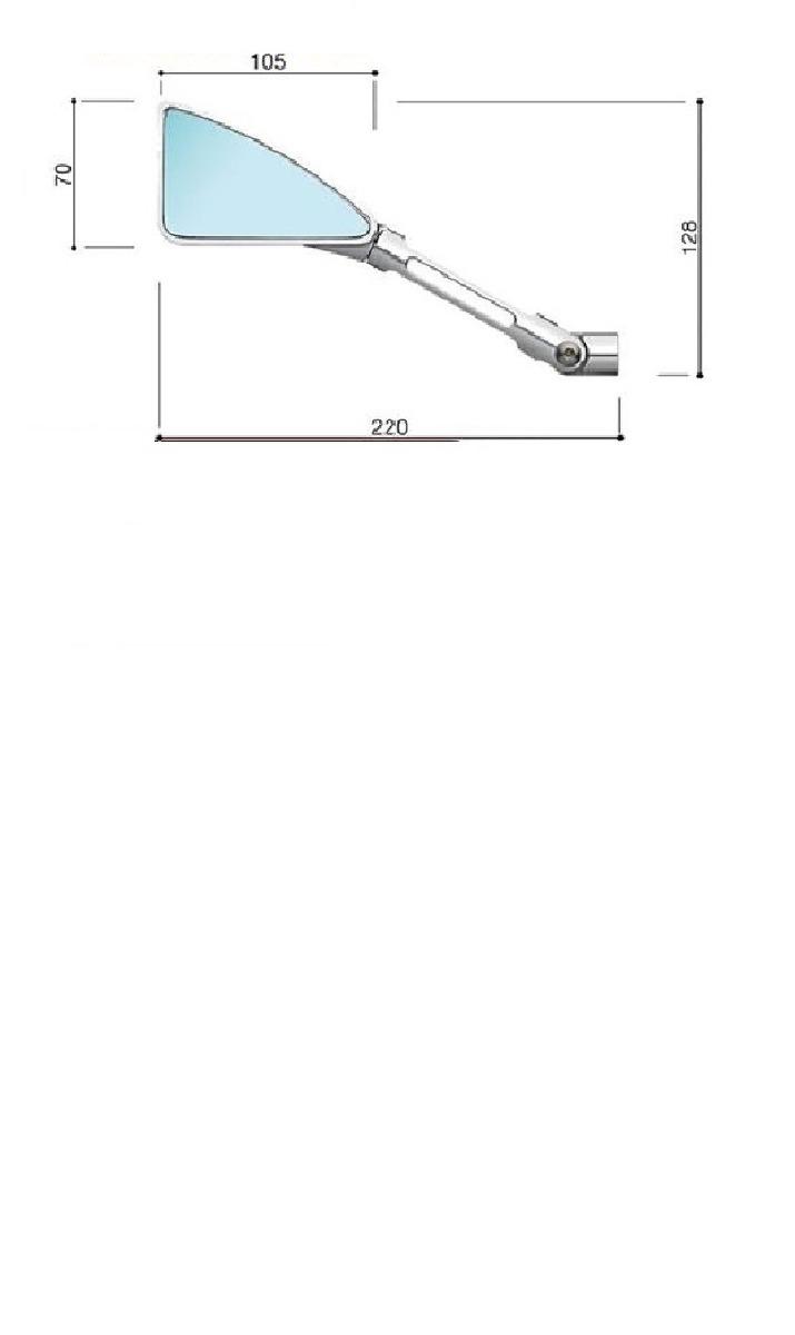 Retrovisor Esportivo Tomok Xj6 Hornet Cb 1000 Z800 Z650