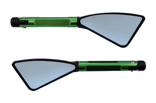 retrovisor esportivo tomok verde fazer xj6 mt hornet cb cg