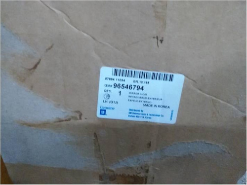 retrovisor izquierdo optra 2004/08 original (96546794)