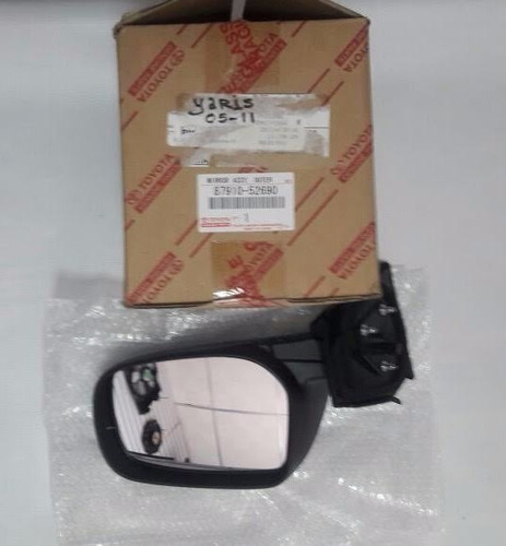 retrovisor manual derecho yaris 2000-2005 original toyota