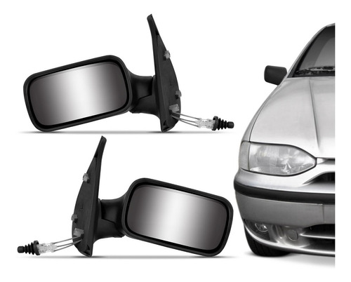 retrovisor manual strada 98 99 2000 2 portas c/ espelho