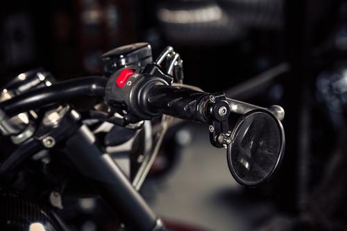 retrovisor ponta de guidão custom bobber chopper cafe racer