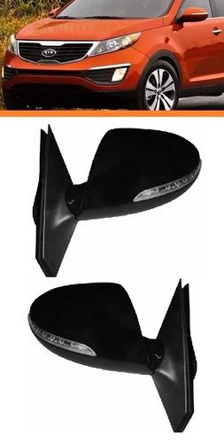 retrovisor sportage 2011 12 13 14 15 c/pisca retratil par