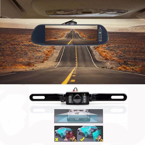 retrovisor wireless con pantalla + cámara de reversa
