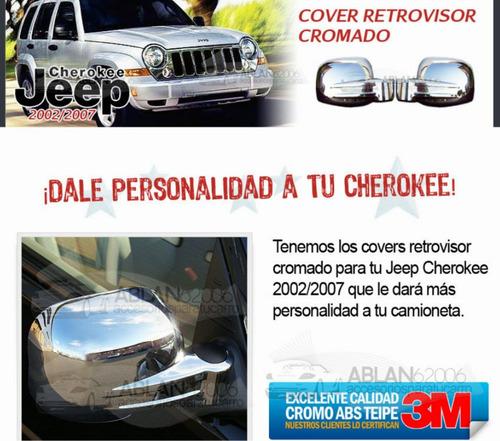 retrovisores  cromados jeep cherokee 2002 2007