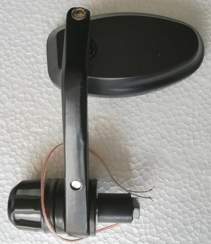 retrovisores de timón ovalados con luz