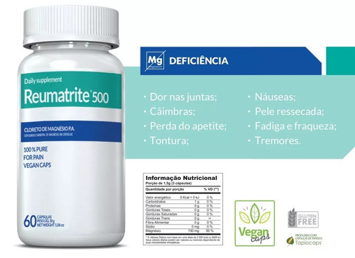 reumatrite 500mg com 60 cápsulas inove nutrition