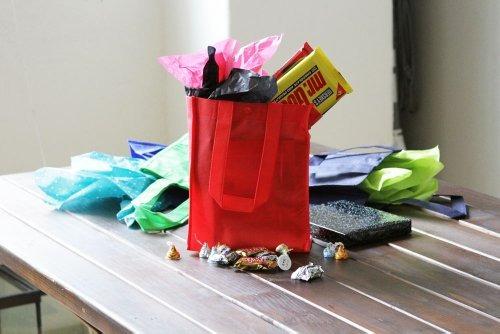 reutilizables regalo / partido / almuerzo bolsas de asas -