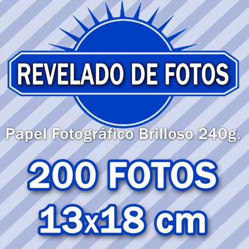 revelado de fotos 200 13x18cm