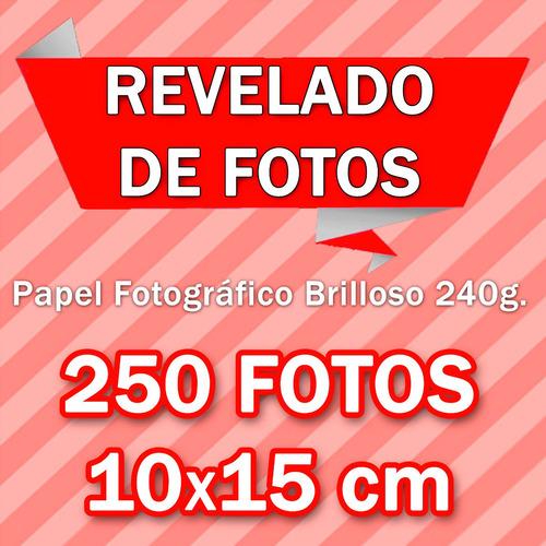 revelado de fotos 250 10x15cm