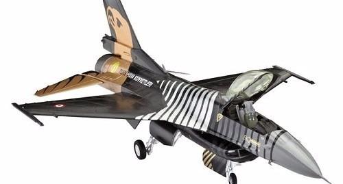 revell - aviao f-16c solo turk c/tintas, pinceis e cola