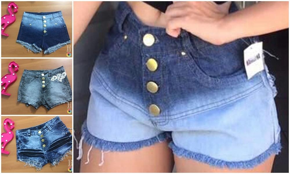 revenda 10 short jeans barato kit sacoleira atacado. Carregando zoom. 82a48379d17