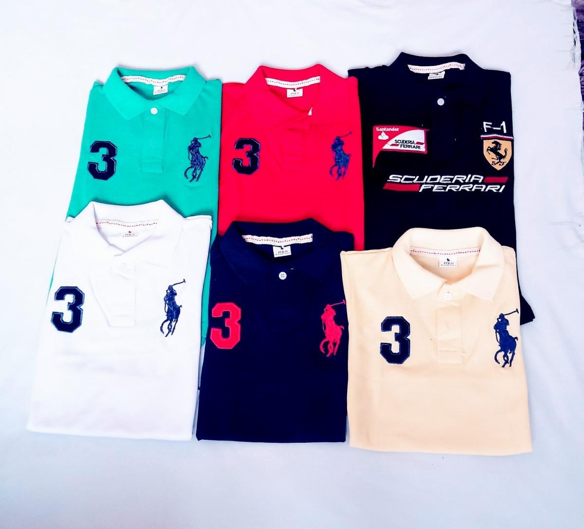 revenda de camiseta polo infantil meninos kit c 8 peças. Carregando zoom. 5295fe43cb1