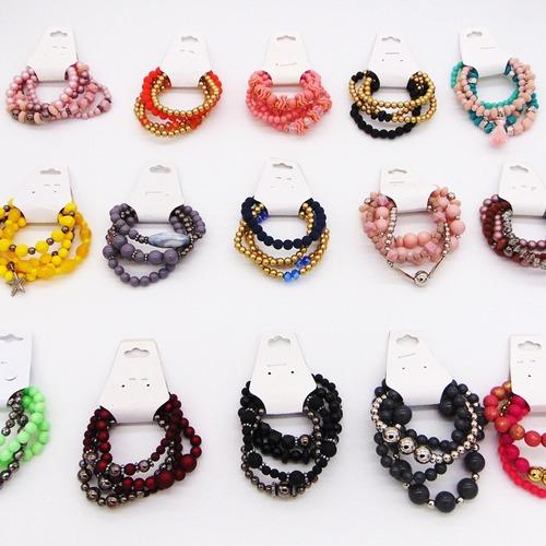 revenda kit c/80 pulseiras bracelete feminino bijoux atacado