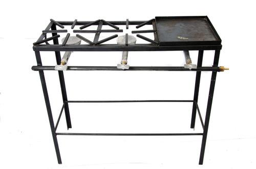 reverbero,cocina,primo 2 hornillas + plancha 90x35x80cm