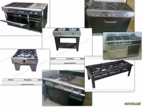 reverberos fogones planchas y cocinas industriales encaracas