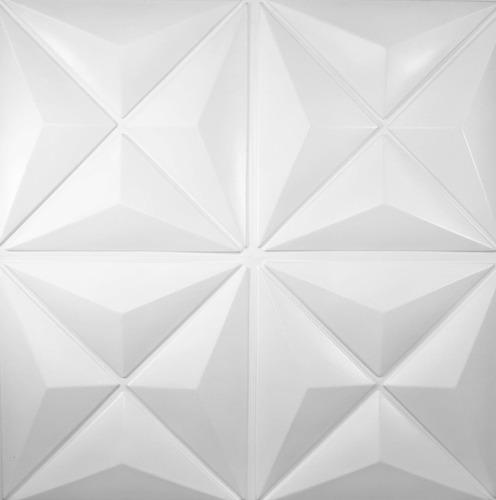 revestimento 3d de parede placas de pvc 1mm kit 10m²