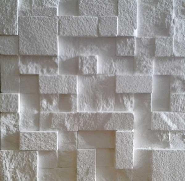 Revestimento 3d em gesso mosaico 4 50 cada placa r 4 for Leroy merlin mosaico decorativo