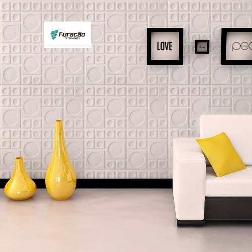 Revestimento 3d em pvc parede ou teto 1mt2 asteca r 39 for Placas pvc para paredes