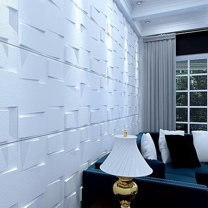 Revestimento de parede 3d placas pvc formix levanzo r for Placas de pvc para paredes