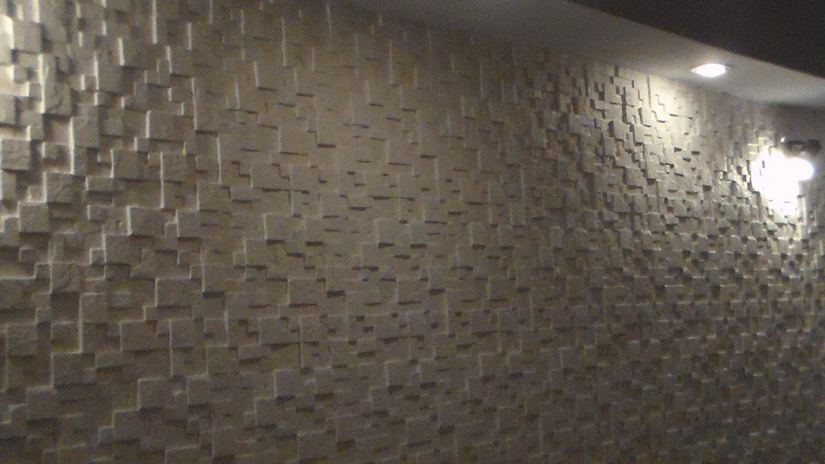 Revestimento de parede estilo mosiaco em gesso r 3 00 - Revestimiento de parede ...