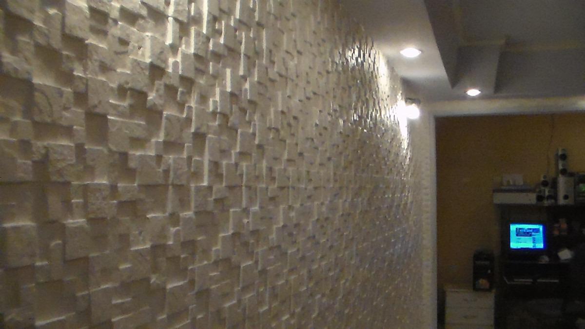 Revestimento de parede estilo mosiaco em gesso r 3 00 - Placas para paredes ...