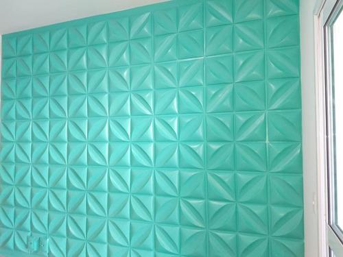 revestimento de parede pvc 3d luxo 50cm x 50cm 14 placas