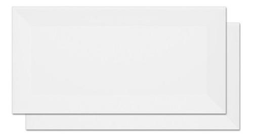 revestimento esmaltado metrô white borda bold 10x20cm 1m²