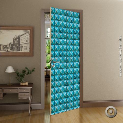 revestimento porta 100x220 estacas azuis