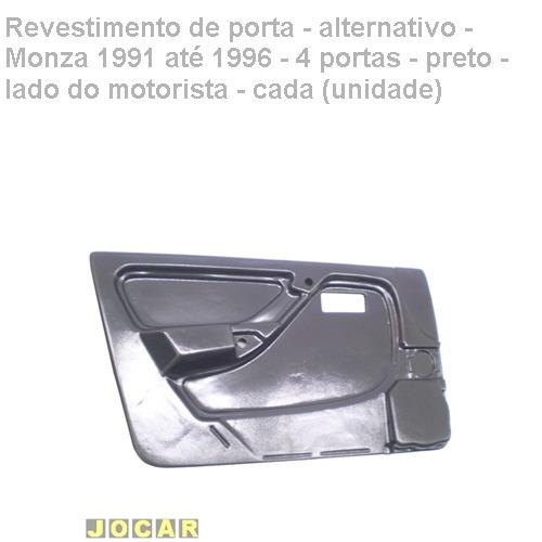 revestimento porta-alt.- monza 1991/1996-4p-preto-esq