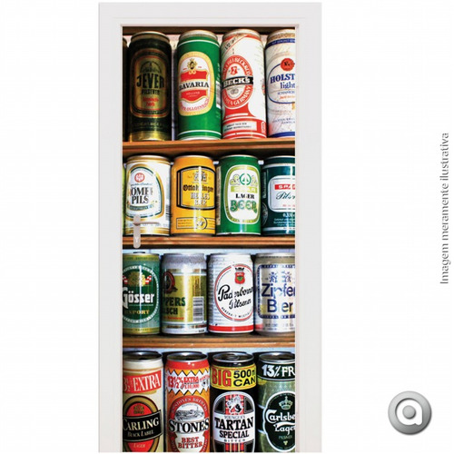 revestimento porta haus for fun beer 100x220