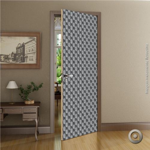 revestimento porta haus for fun capitone cinza 100x220