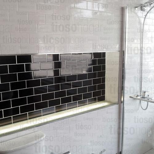 revestimiento azulejos acuarela blanco brillante 7.5x15 cm
